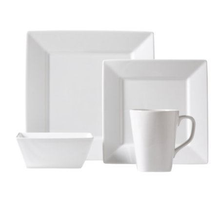 Threshold Square Rim 16 Piece Dinnerware Set by Threshold