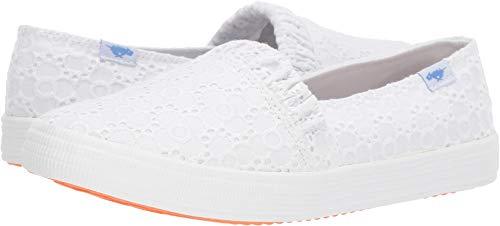 Rocket Dog Women's CLEA Pretty Petal Cotton Boat Shoe, White, 6.5 Medium US