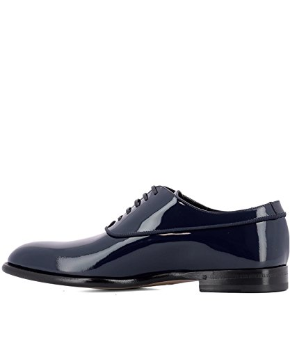 Fabi Homme FU8800ABLU Bleu Cuir Chaussures À Lacets QuBZW0h2L