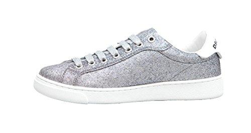 Donna Santa Glitterato Sneaker Argento Dsquared2 Monica 5zqEwIp