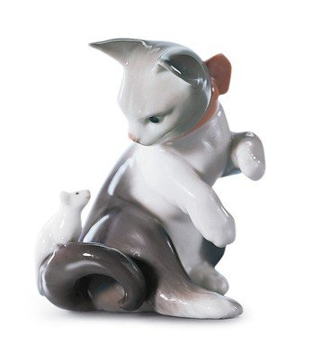 CAT AND MOUSE Lladro Porcelain by Lladro Porcelain