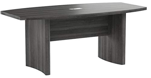 Mayline ACTB6LGS Aberdeen 6' Boat Shape Conference Table, Gray Steel Tf by Safco Products (Image #4)