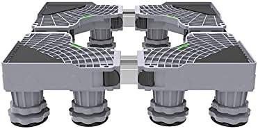 YiHYSj Base De Lavadora con 8/12 Pies Antideslizantes Ajustable Largo 45-60cm Ancho 47-60cm Secadora Refrigerador Soporte Pedestal para Mueble Vinotecas Lavavajillas Carga 400 Kg (8Legs)