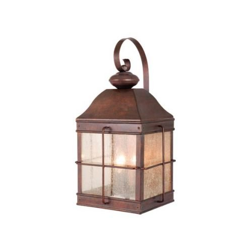 Vaxcel OW39593RBZ USA Revere 3 Light Colonial Outdoor Wall Lamp Lighting Fixture in Bronze, Glass, 10