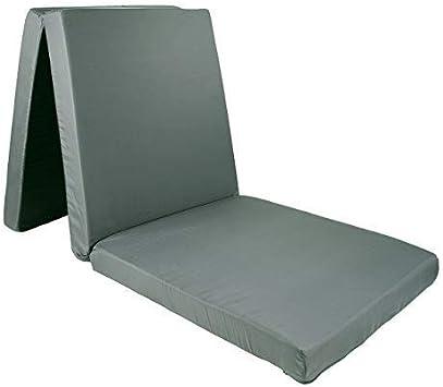 Wagner Textil Premium Colchón Plegable Colchón Plegable Colchón Plegable Plegable Colchón de Invitado 190 X 60 X 7cm Antracita