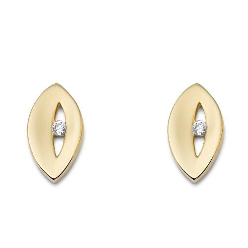 Miore - MM9038E - Boucles d'Oreilles Femme - Or jaune 375/1000 (9 carats) 1.7 gr - Diamant