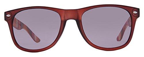 Kreedom Summit - anteojos de sol, vidrio mate, color café con templo de madera de colores, humo