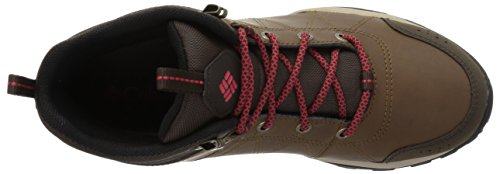 Leather Women's Mid Sunset Boot Red Bronze Venture Waterproof Hiking Fire Columbia Autumn fIqxwdT