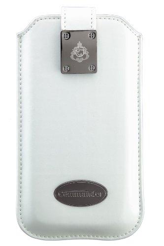 Commander 12781 Milano Leder Case für Apple iPhone 5/5C/5S Größe XLS weiß