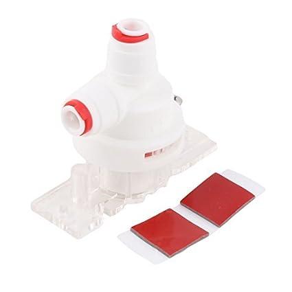 eDealMax inversa de agua Detector de fugas purificador Montaje del interruptor de protección Conector Blanco Rojo