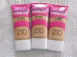 (Pack 3) COVERGIRL Ready Set Gorgeous Foundation Medium Beige 210, 1 oz