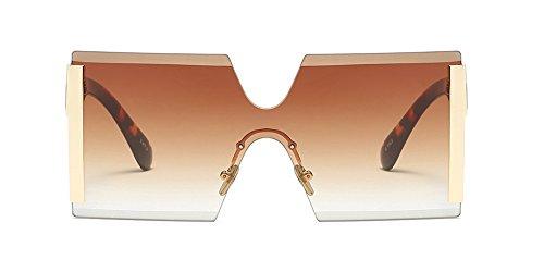 para Gafas Cuadradas KINDOYO Mujers Estilo Protección UV400 Optimal Gran tamaño de 03 sol de Z6n1SUq6