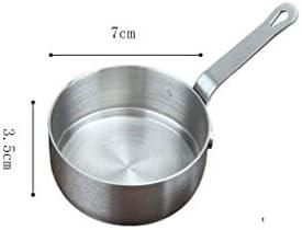 CFYPY Sauce Pan, Küche Kochgeschirr Mit Griff Tragbare Butter Edelstahl-Kaffee Heizung Milchsuppentopf
