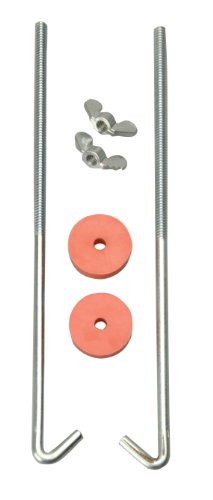 Road Power 966-8 J Hook Battery Hold down bolts, 2-Pack, Chrome, (Battery Hold Down Frame)
