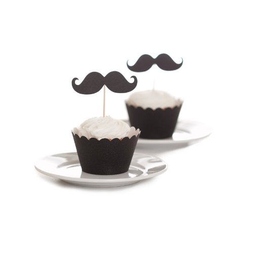 Dress My Cupcake Mustache Toppers