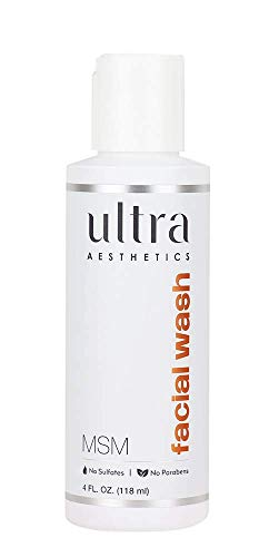 Msm Facial Wash - Ultra Botanicals, Wash Facial, 4 Ounce