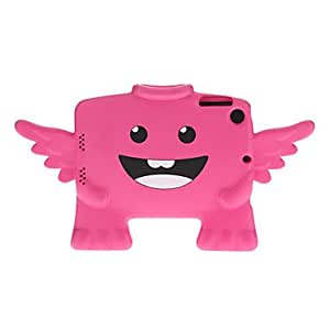 hao Solid Color Angel Shaped Plastic Case for iPad mini (Assorted Colors) , Rose