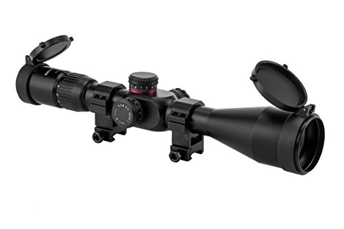 Monstrum Tactical G2 4-16x50 First Focal Plane (FFP) Rifle Scope with Illuminated Mil-Dot Reticle and Adjustable Objective (Black)