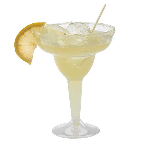 Plastic Margarita Glasses   11.5 oz.  – 50 Pack   Hard Clear Plastic Cocktail Cups   Disposable Party Cups   Large Margarita Glasses   Plastic Cocktail Coupe   Frozen Drink Cups by Prestee (Image #3)