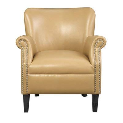 Awe Inspiring Amazon Com Faux Leather Accent Chair With Nailhead Trim Ocoug Best Dining Table And Chair Ideas Images Ocougorg