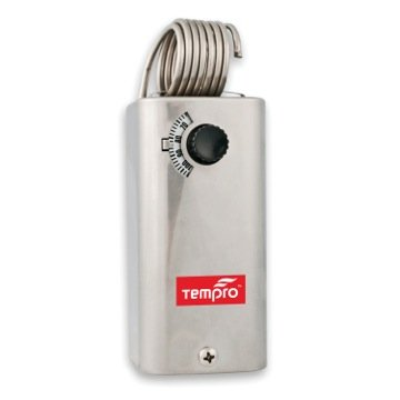 Tempro TP500 Line Voltage -30 to 110 Degree F Fixed Bulb Steel Housing SPDT Thermostat