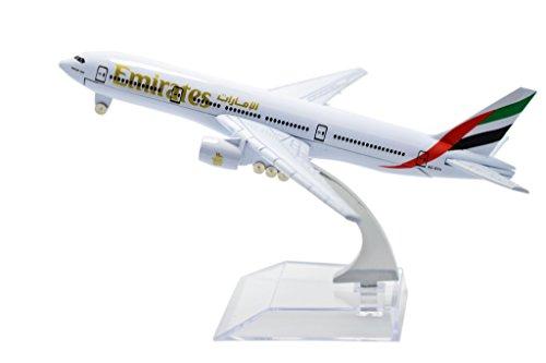 TANG DYNASTY(TM) 1:400 16cm Boeing B-777 Emirates Plane Metal Airplane Model Plane Toy Plane Model