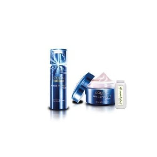 L'Oreal White Perfect Laser Day Cream & Essence Set with Homedales Skin Care 50g by molona