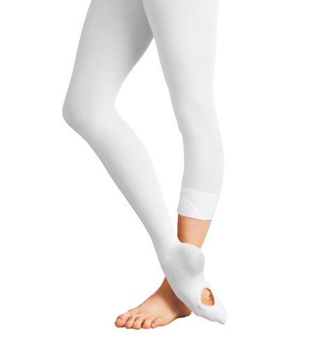 Bodywrappers Totalstretch Convertible Tights, LARGE/X-LARGE, White