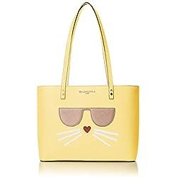 Karl Lagerfeld Paris Maybelle - Bolso cruzado con asa superior, Black/Gold Choupette, Talla unica