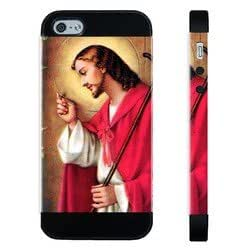 Houseofcases Jesus Knocking At Door Christian iPhone 5/5S Case - Hybrid Plastic And Durable Silicon iPhone 5/5S Case