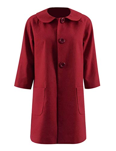 Sabrina Spellman Red Dress Coat Costume Teenage Switch Halloween Cosplay (S, Red)