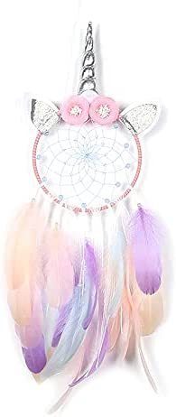 Dream Cather Wall Decor Led Unicorn Dream Catchers with Light Colorful Feather Baby Shower Decoration for Girls Gift Home Hanging Decor for Bedroom