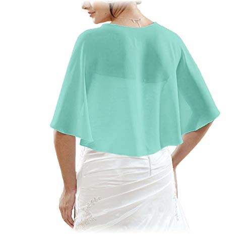 Lafee Bridal Chiffon Bridal Evening Scarves Wraps Shawls for Bridesmaid Prom Wedding XL Turquoise (Bridal Chiffon Skirt)