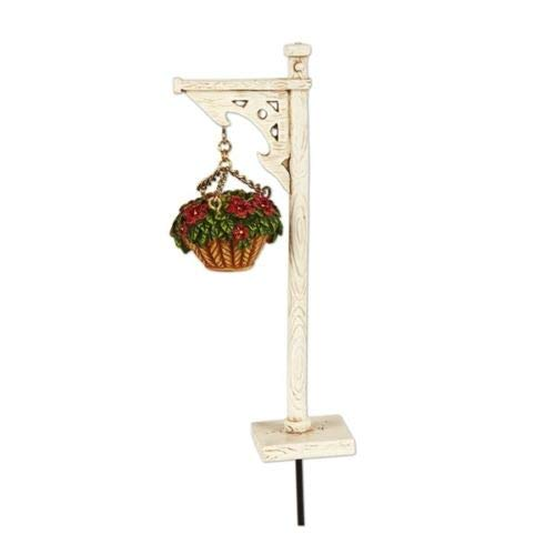 ShopForAllYou Figurines and Statues Mary Engelbreit Fairy Gardens - Hanging Basket with Stand - Dollhouse Miniature