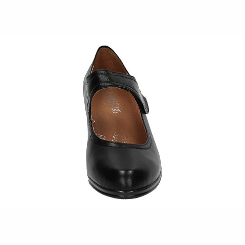 Spain Negro 5043 Mujer De In Tacón Made Piel Tacones Zapatos aqOPzv