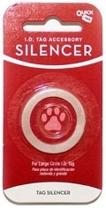 Quick-Tag New Glow in the Dark Dog Tag Silencers (Circle Shape, Large / 1 Silencer)
