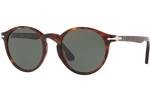 Persol PO3171S Sunglasses Havana w/Green Lens 52mm 2431 PO 3171S PO3171-S PO 3171-S ()