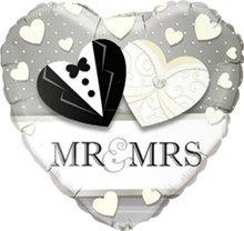 Caseta de globo aerostático/de boda/Globo Aire de Mr. & Mrs en