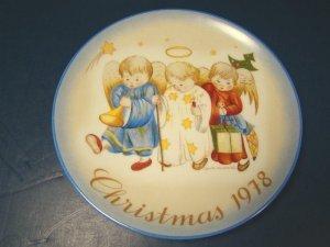 (1978 Heavenly Trio Hummel Christmas Plate Sister Berta Porcelain China Schmid The Creative Hand)
