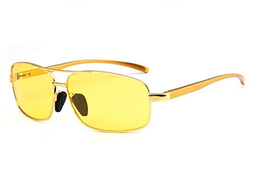 libre los para gafas ciclo los amarillas Huyizhi la viajar UV400 mujeres conduce Las el Yellow vidrios hombres que noche polarizan de al Guay sol para de aire protectoras qn47SZ