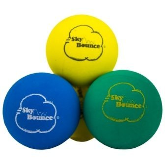 Spot Rubber Balls - Sky Bounce Color Rubber Handballs for Recreational Handball, Stickball, Racquetball, Catch, Fetch, and Many More Games, 2 1/4-Inch, Assorted, 12 Count