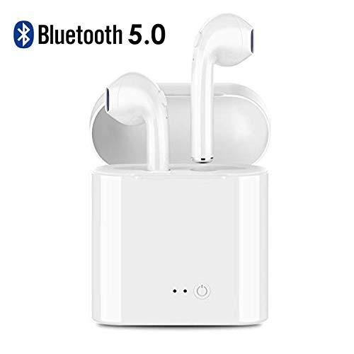 Bluetooth 5.0 Headphones, Wireless Earbuds Mini Wireless Sports Earphone Earbuds Stereo-Ear Sweatproof Earphones with Noise Cancelling Fit for Most Smartphones