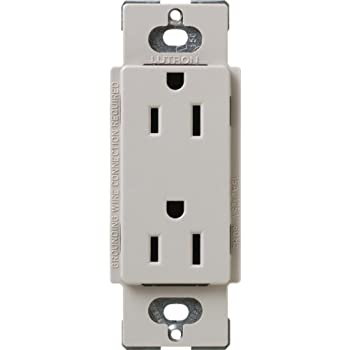 Lutron SCR-20-TP Satin Colors 20-Amp Receptacle, Taupe - Electrical ...