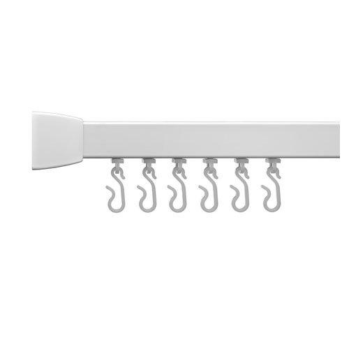 Croydex Profile 800 Straight Rail 760mm-White, Aluminum, White, 7.3x95.2x3.2 - Mirrors X 800 Bathroom 1200 Illuminated