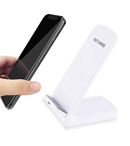 Sleek QI Certified Wireless Charging Stand Fast charching with 2 coils Compatible iPhone Xs/Xs
