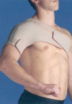 Thermoskin Single Shoulder Support, Beige, Left, X-Large by Thermoskin