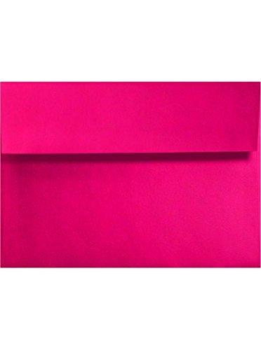 A6 (4 3/4 x 6 1/2) - en microondas rosa sobres - paquete de ...