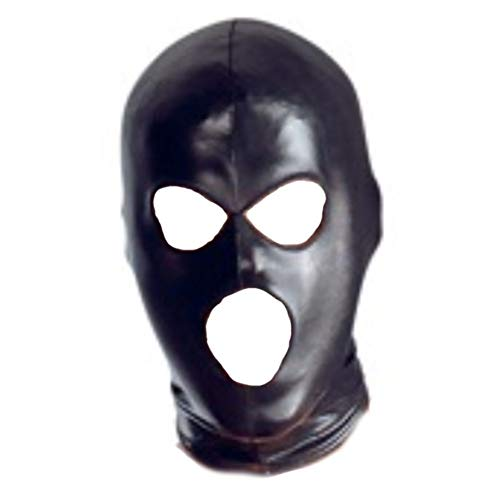 Forart Full Cover Hood Mask Elastic Black Open Eyes Open Mouth Face Cover Blindfold Mask Cosplay Costume -