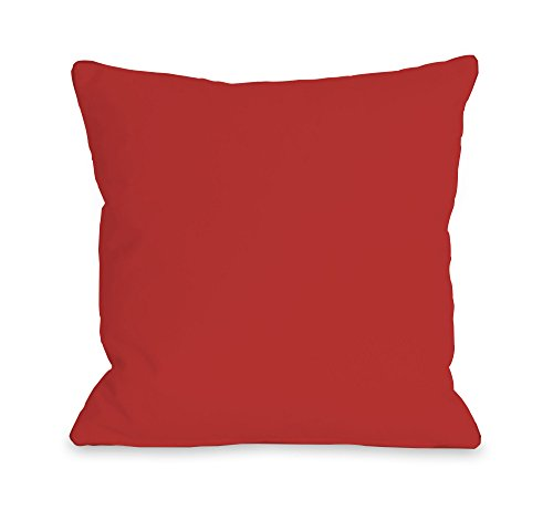 """One Bella Casa Solid Throw Pillow w/Zipper by OBC, 18""""x 18"""", Rocket Red from One Bella Casa"""
