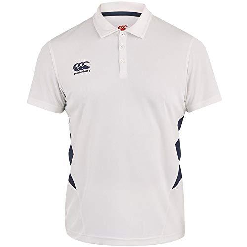 Canterbury Cream - Canterbury Mens Classic Short Sleeve Cricket T-Shirt - Cream/Navy - S